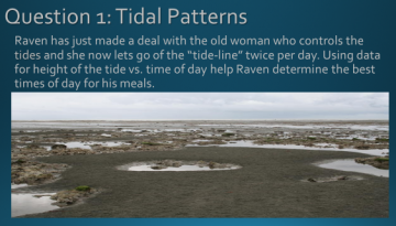 This is a sample math activity based on the story, How Raven Made the Tides