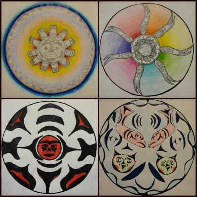4 sample selections of spindle whorl math projects.